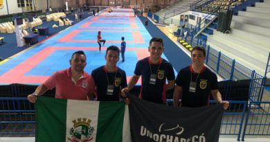 Equipe de Karate na final do Campeonato Brasileiro